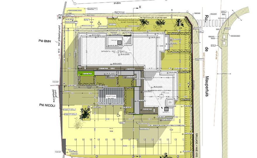 area plan de masse 2d