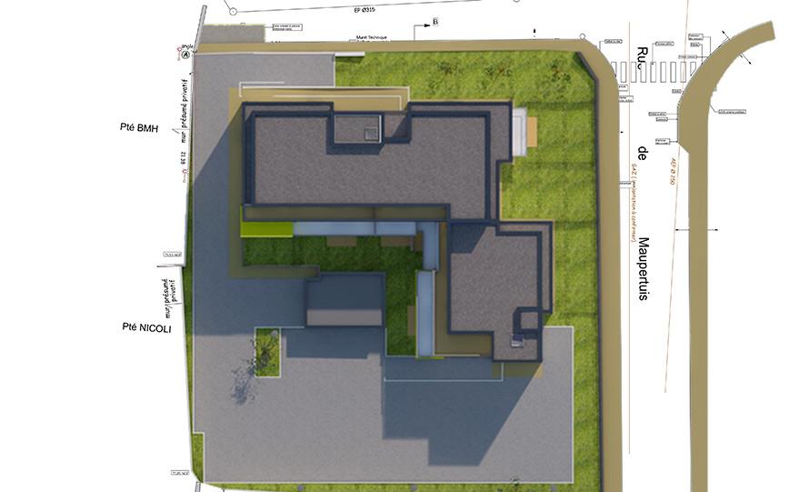 area plan de masse 3d